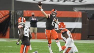 Photo of Mayfield lanza dos pases de anotación, Browns ganan a Bengals
