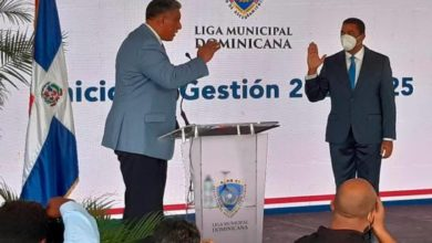 Photo of Juramentan a Víctor D' Aza como secretario general de la Liga Municipal