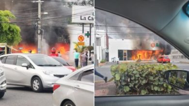 Photo of Fuego afecta farmacia Los Hidalgos en la Lincoln